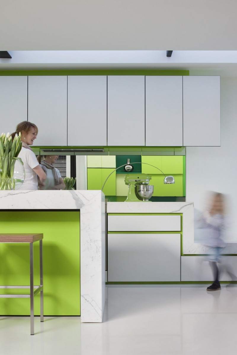 White green kitchen