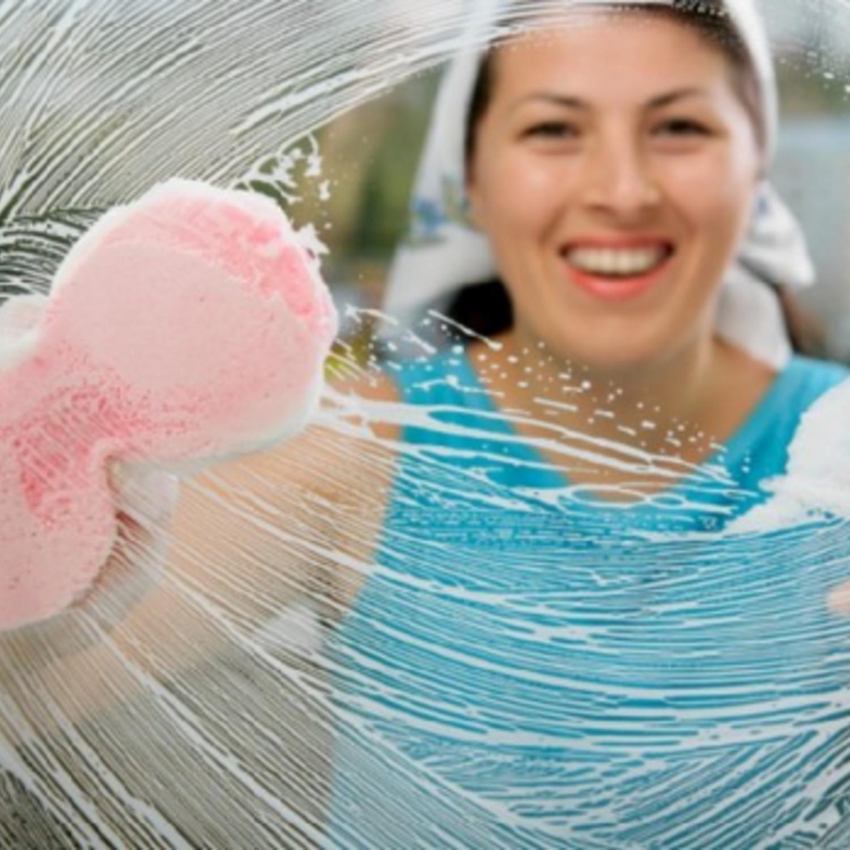 Woman Window Cleaner