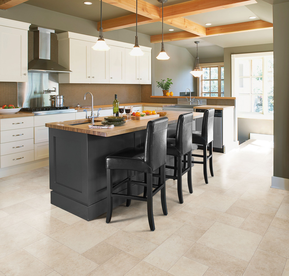 Choose right flooring for kitchen vinyl flooring my for Linoleum kitchen flooring