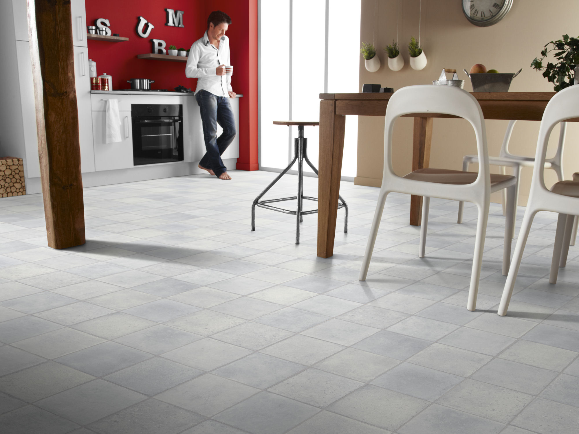 choose right flooring for kitchen vinyl flooring kitchen flooring vinyl Kitchen Decorated with Vinyl Floor