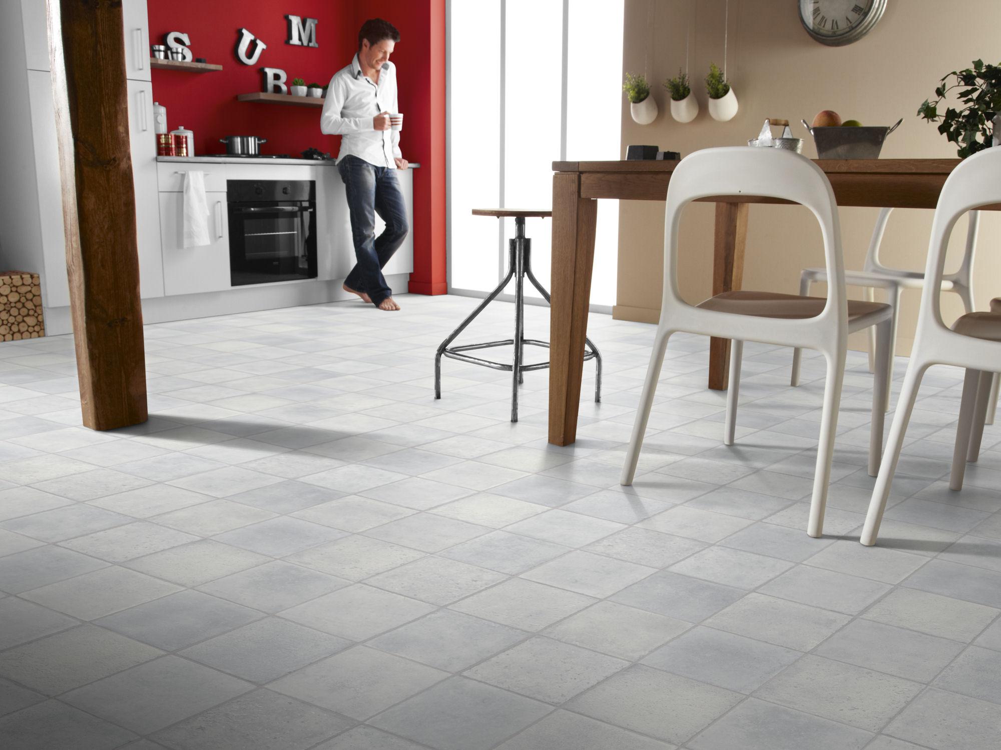 Kitchen Decorated with Vinyl Floor