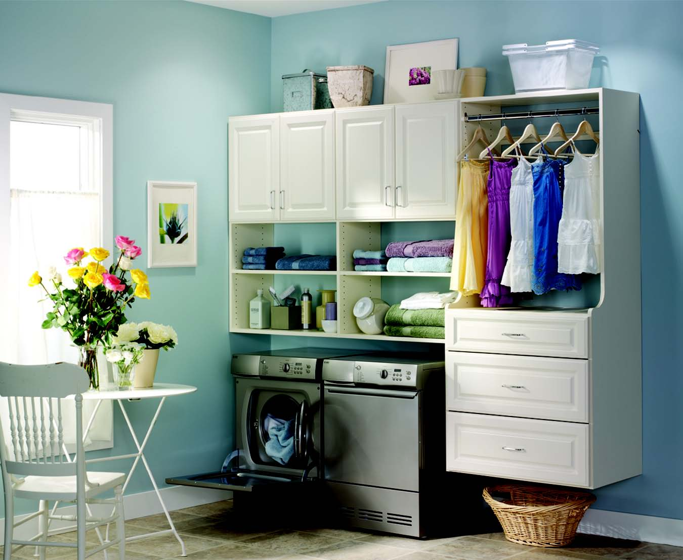 Organize Your Laundry Room Cabinets | My Decorative on Laundry Room Decor  id=99460