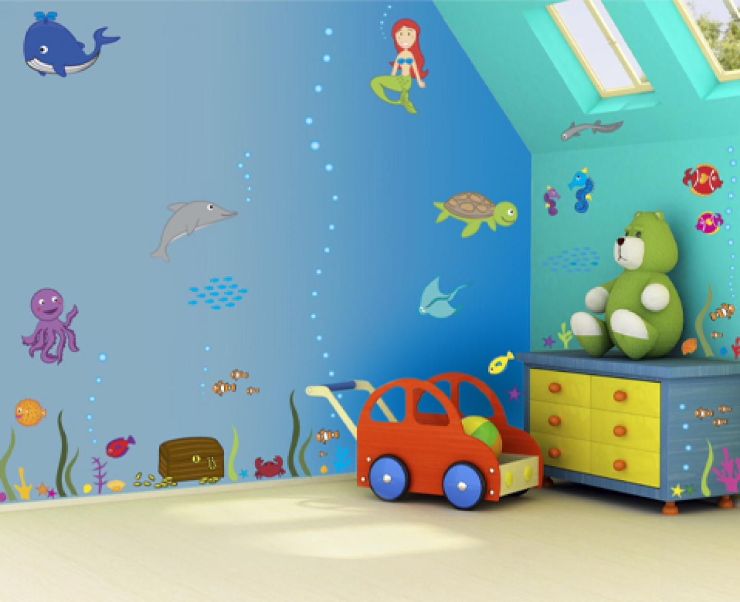 Home decor painting ideas home designer for Children wall mural ideas