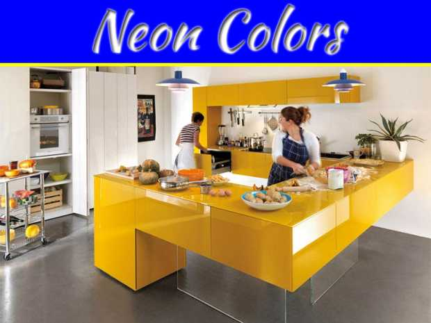 Funky Colors and Neon Colors: Decorative Tips