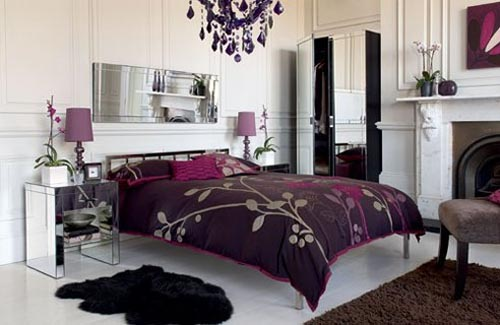 Luxury Black and Purple Interior Decor Ideas for Master Bedroom