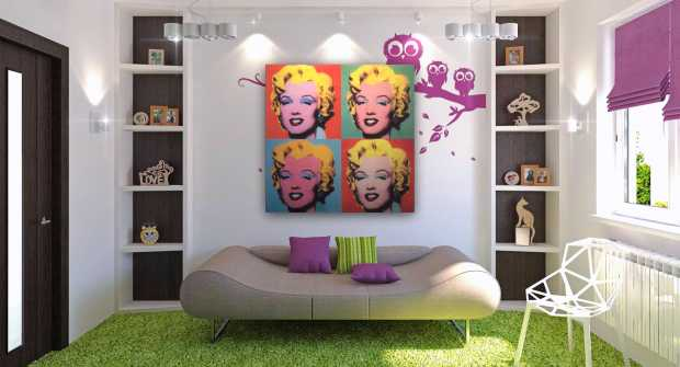 Modern Interior with Pop Art