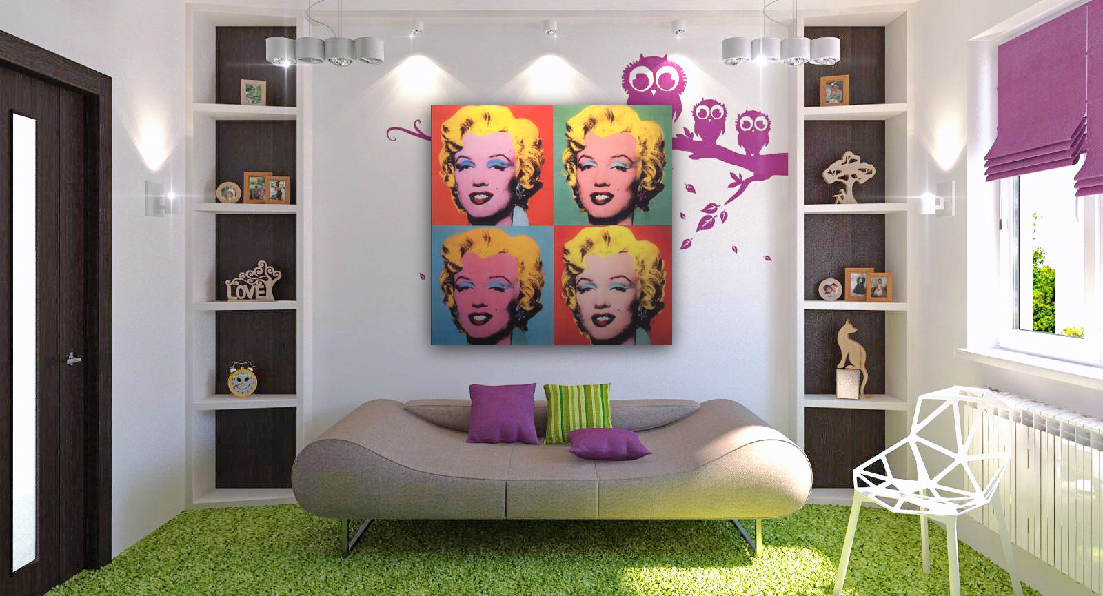 Marilyn Monroe Living Room Decor Decorate Your Room With Pop Art My Decorative