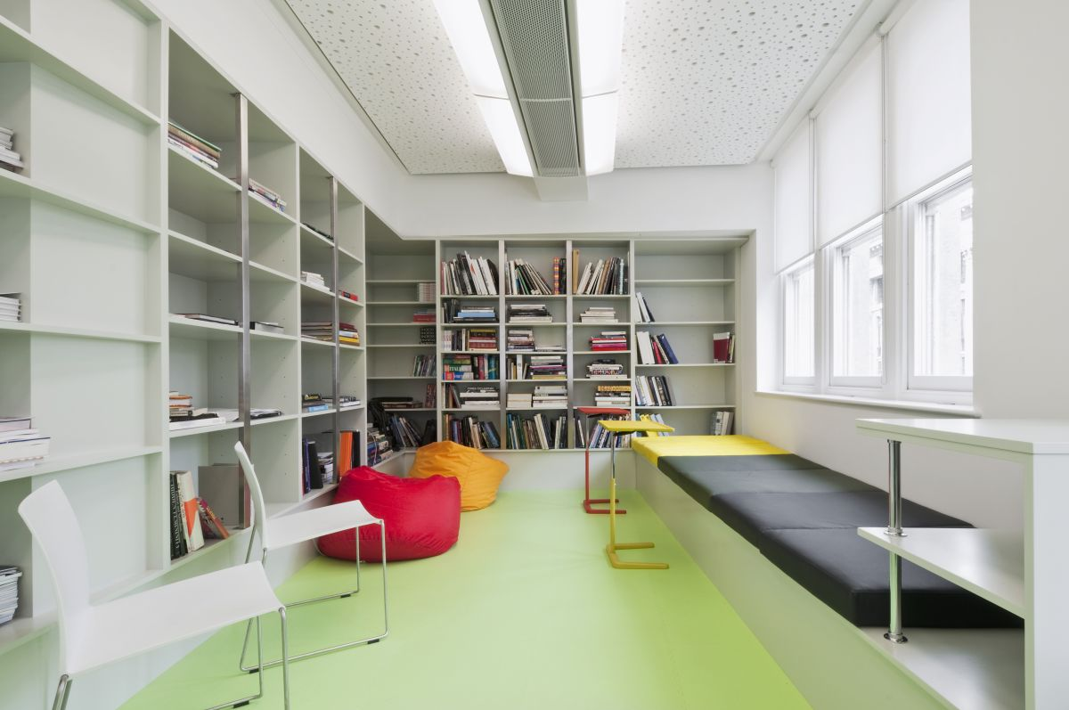 Modern Office Minimalist Bookcase Interior