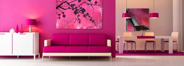 Modern Pink Interior Design