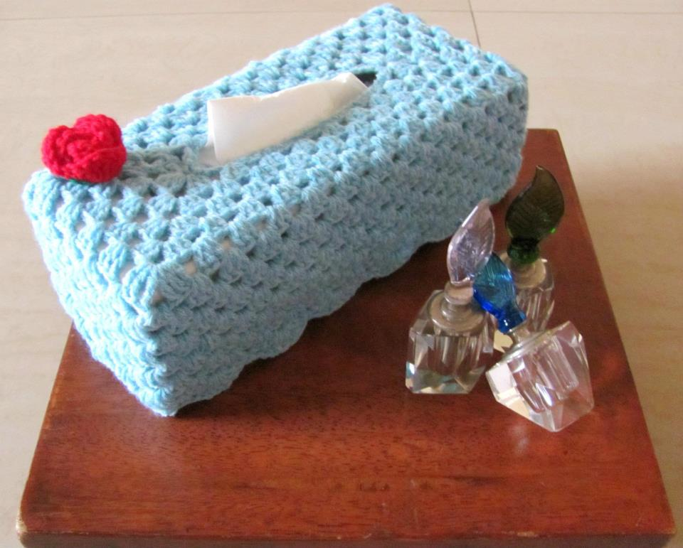 Crochet Tissue Paper Box