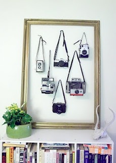 Hanging Up Old Cameras within the Frame