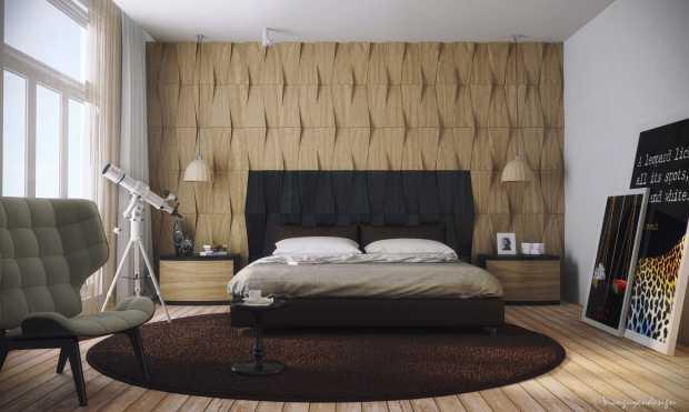 Modern Bedroom Abstract Wall