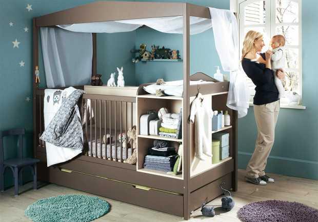 Turquoise Baby Nursery Design