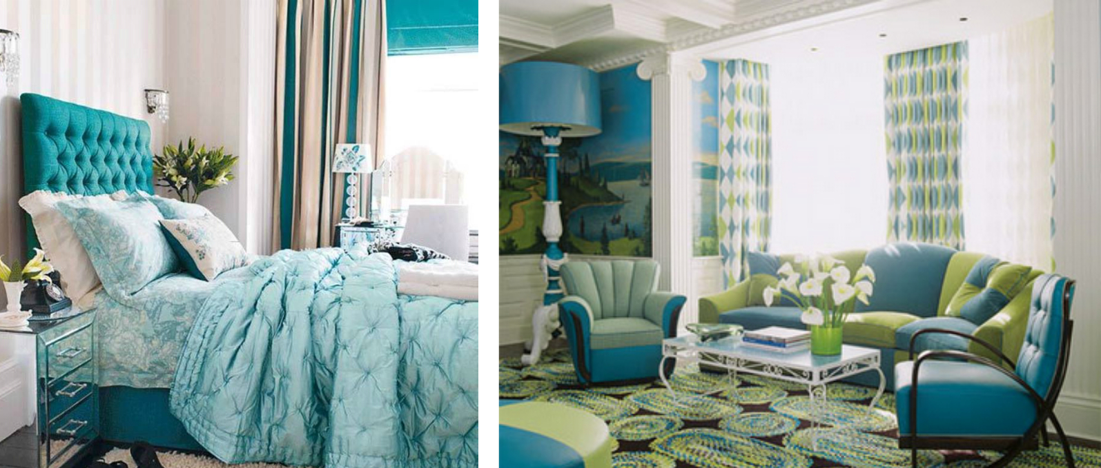 Blue Green Home Interior Design