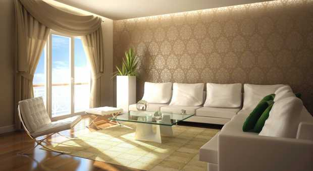 Elegant Brown Wall Murals for Living Room