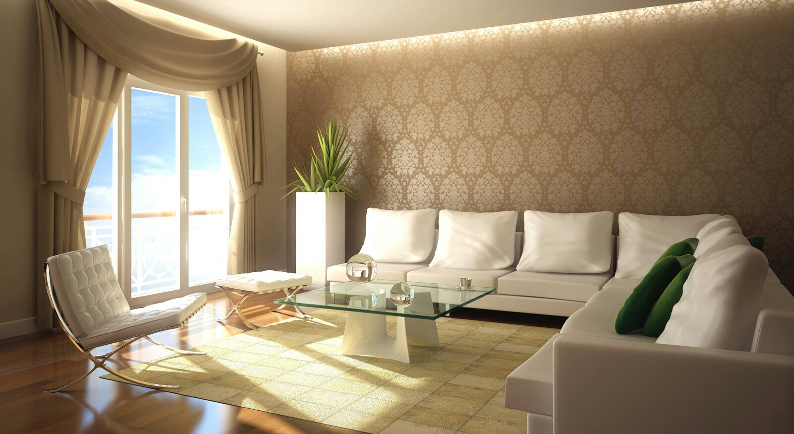 Elegant Brown Wall Murals For Living Room