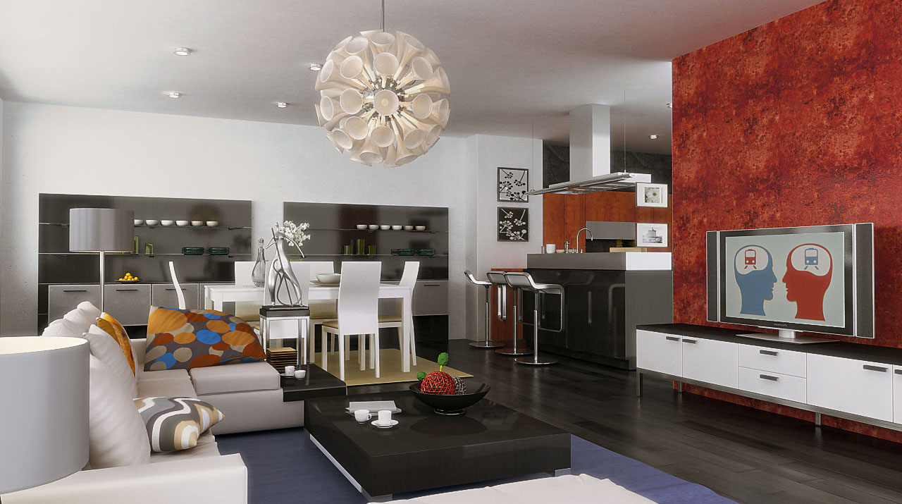 Exceptional Small Spaces Designs San Vicente Gardens. Most Of The Living Room And Dining  Room Combination ...