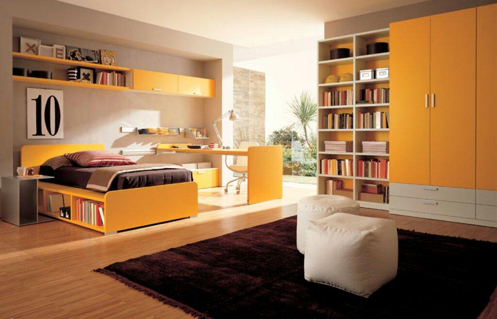 Orange Bedroom Designs