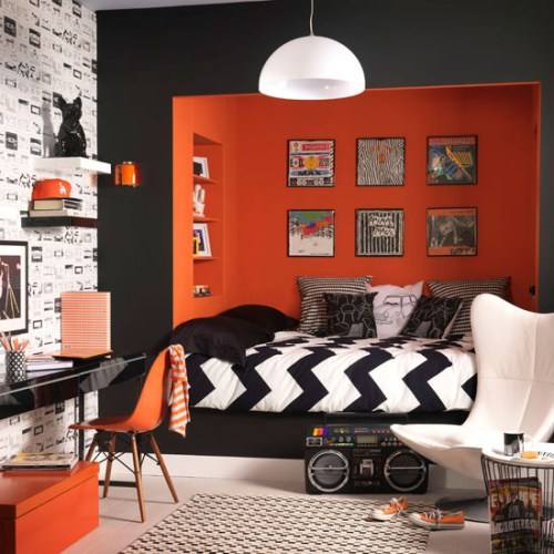 Orange Rock N Roll Bedroom