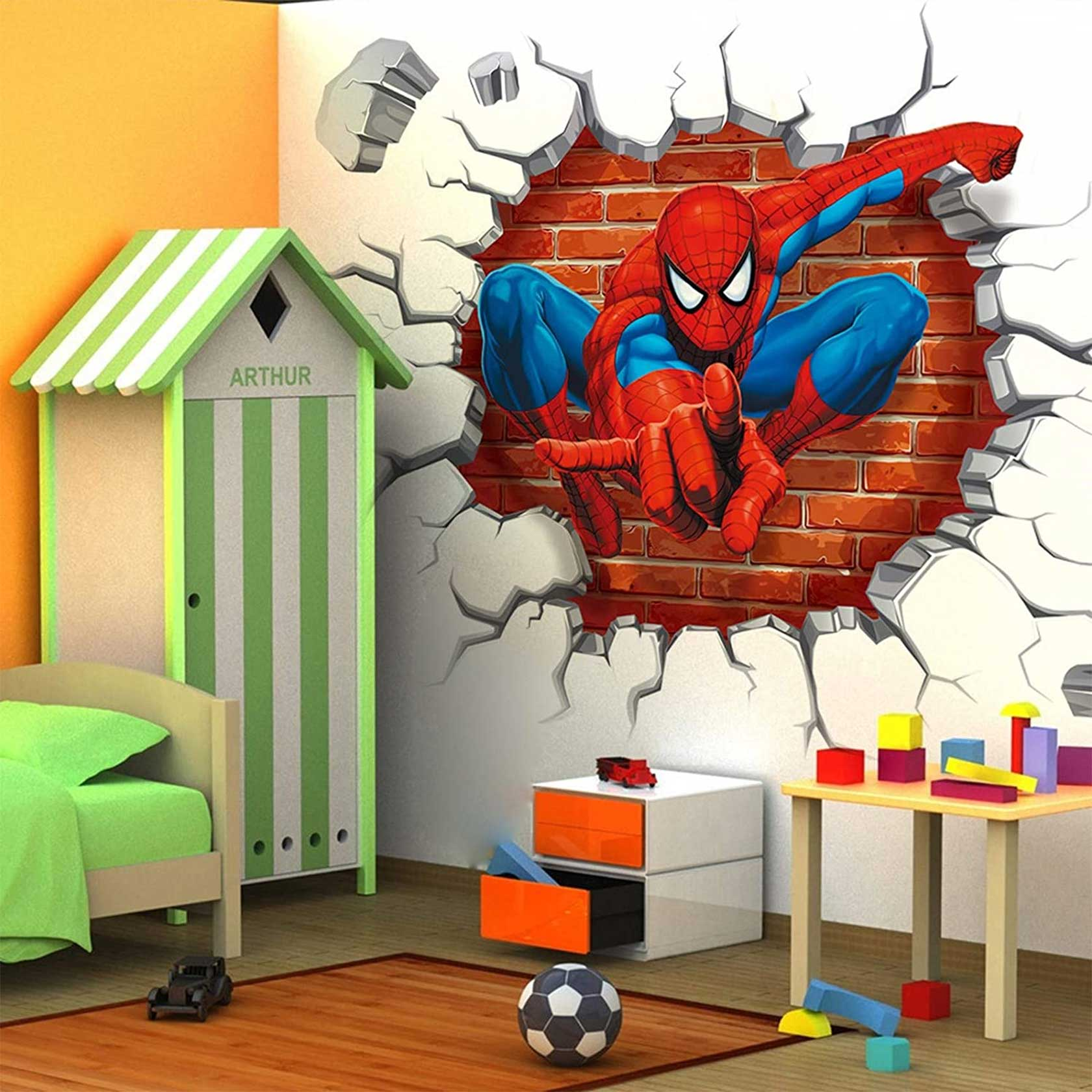 Spiderman 3D Wall Art For Kids Room