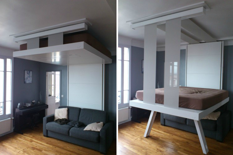Suspended Bed For Living Room Bedroom