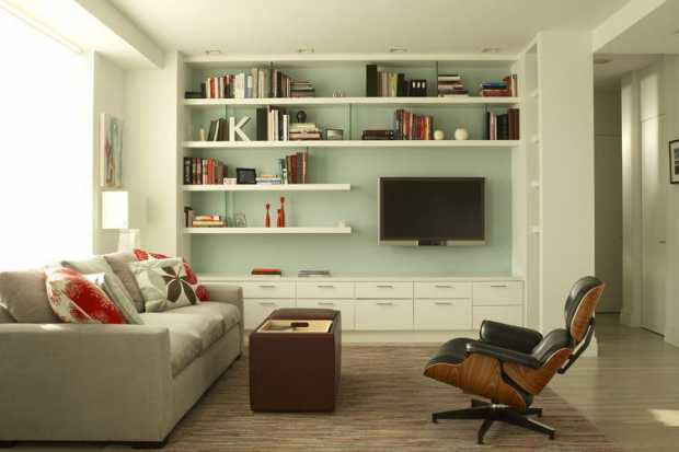 Uncluttered Organised Living Room