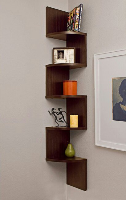 Wall Mount Corner Shelf Design