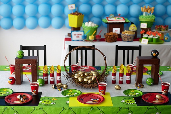 Birthday party decoration ideas my decorative for Angry birds party decoration ideas