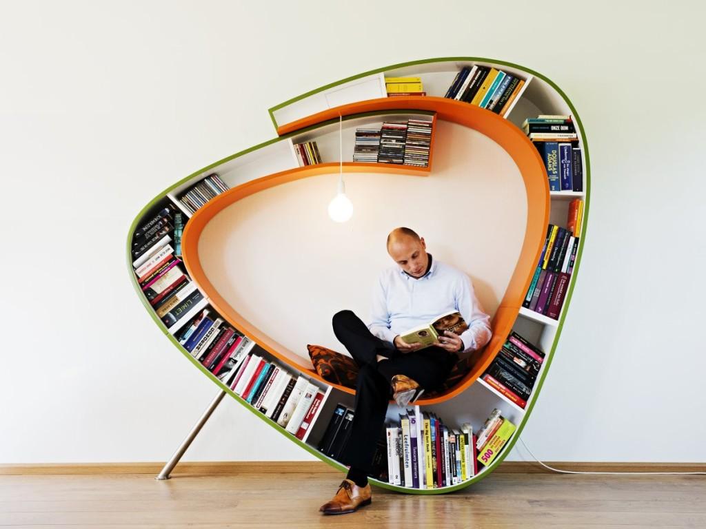 Classy Modern Artistic Bookworm Bookshelf Designs Creative Ideas