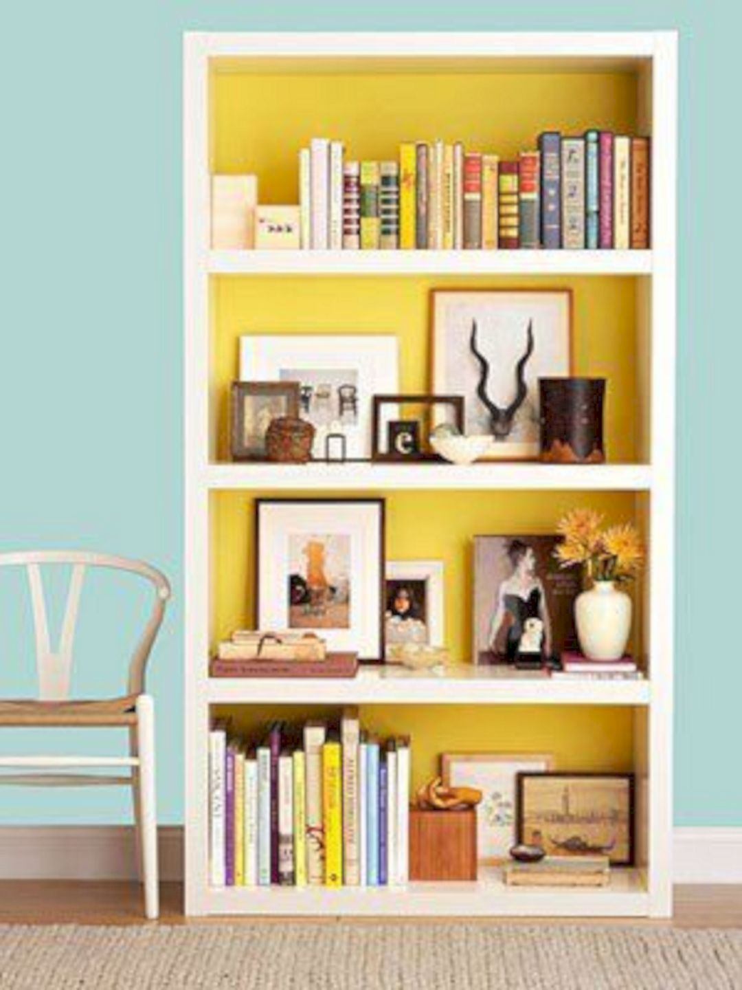 Colorful Bookshelf Design