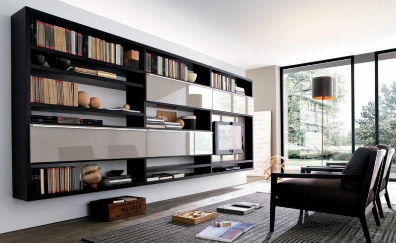 Ways to organize bookshelf my decorative for Modern tv shelf for living room