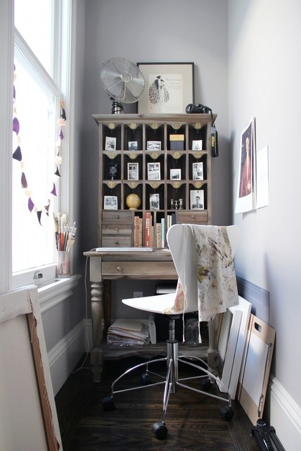 Narrow Hallway Nook Office