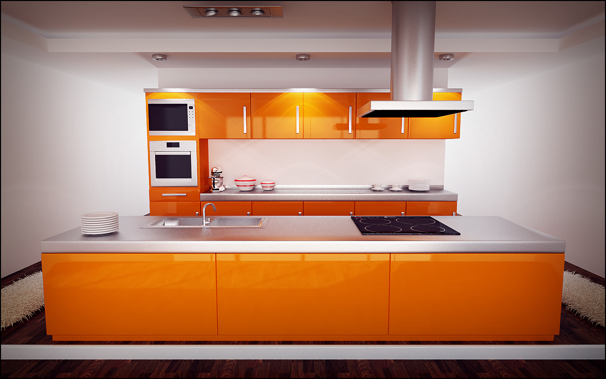 Home d cor in orange my decorative - Cuisine orange ...