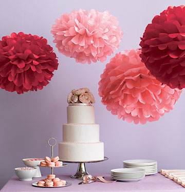 Puff Balls Birthday Decoration