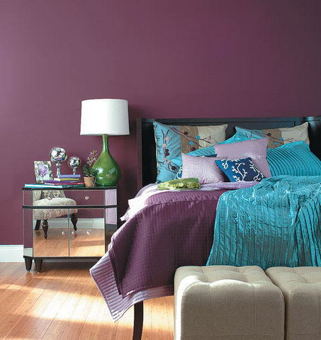 purple feature wall bedroom our home ideas bedroom d 233 cor in purple my decorative 811