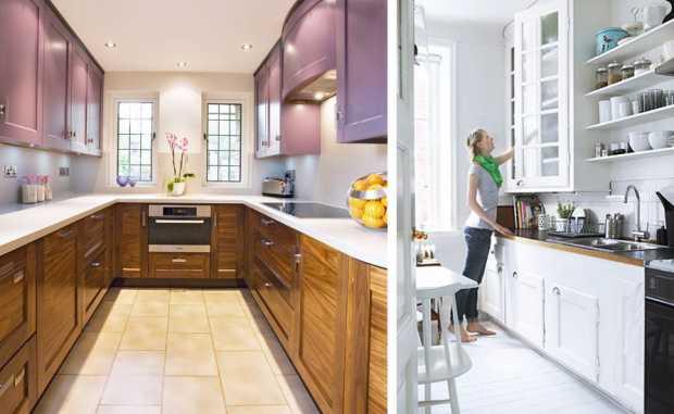 Small White and Wood Kitchen Beautiful Kitchens