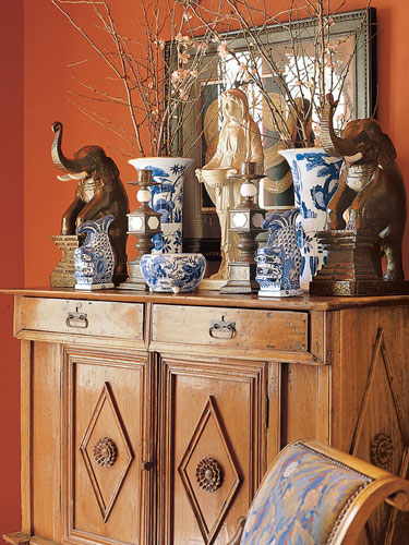 Terracotta items for decor