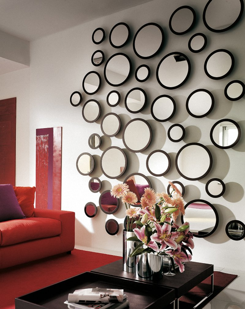 Different types of wall mirrors my decorative for Decorative living room wall mirrors