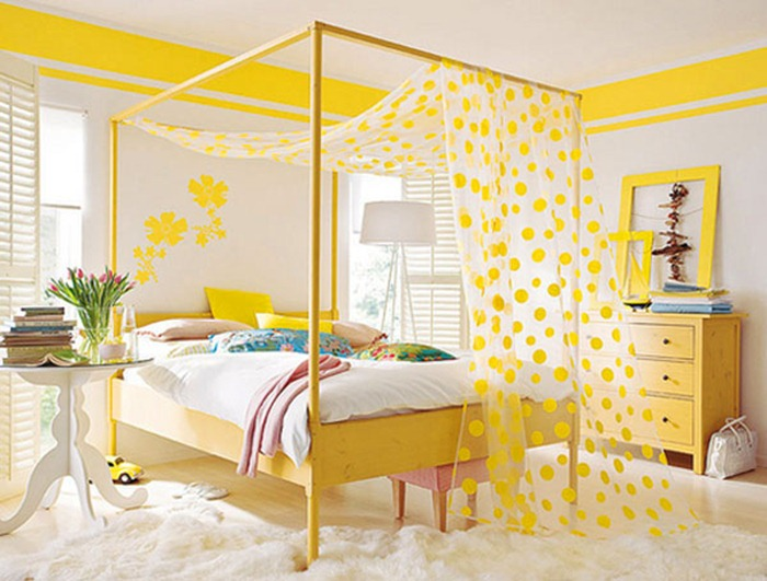 Yellow color and feng shui for your bedroom my decorative for Bright bedroom wallpaper
