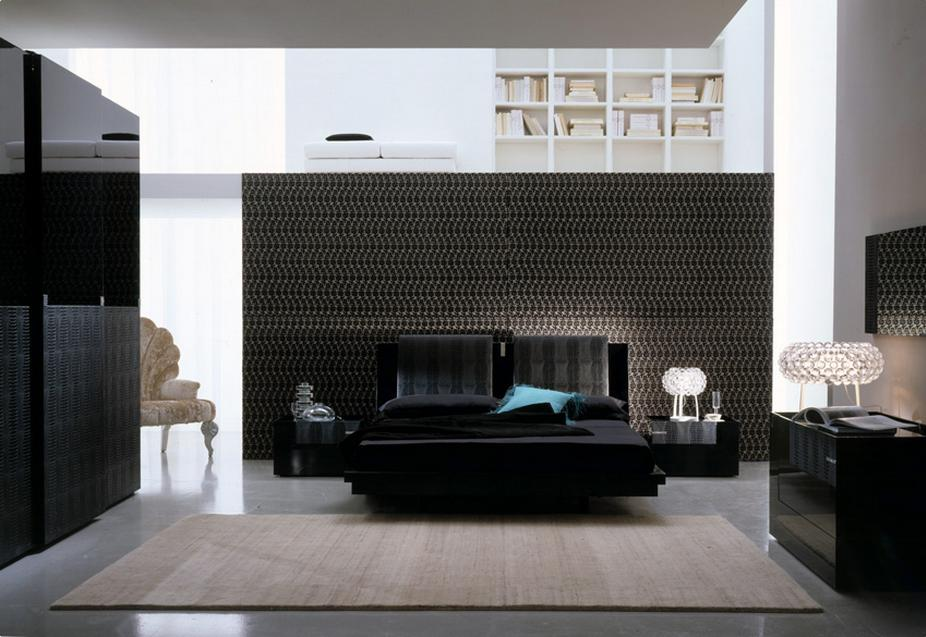 remarkable bedroom white walls black furniture | Home Décor in Black And White | My Decorative