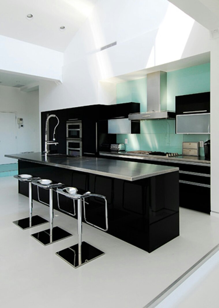 Black kitchen ideas modern minimalist house interior decor black and white kitchen my decorative