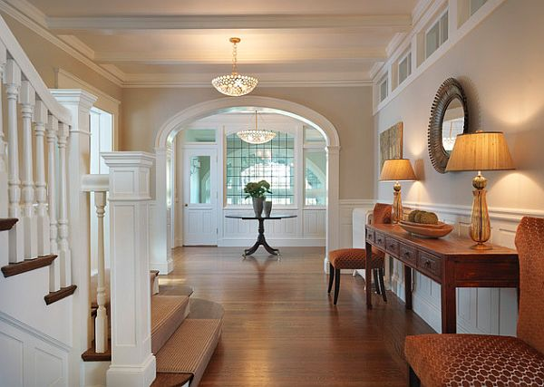 Bright Foyer Colors : Use awkward spaces of your home my decorative