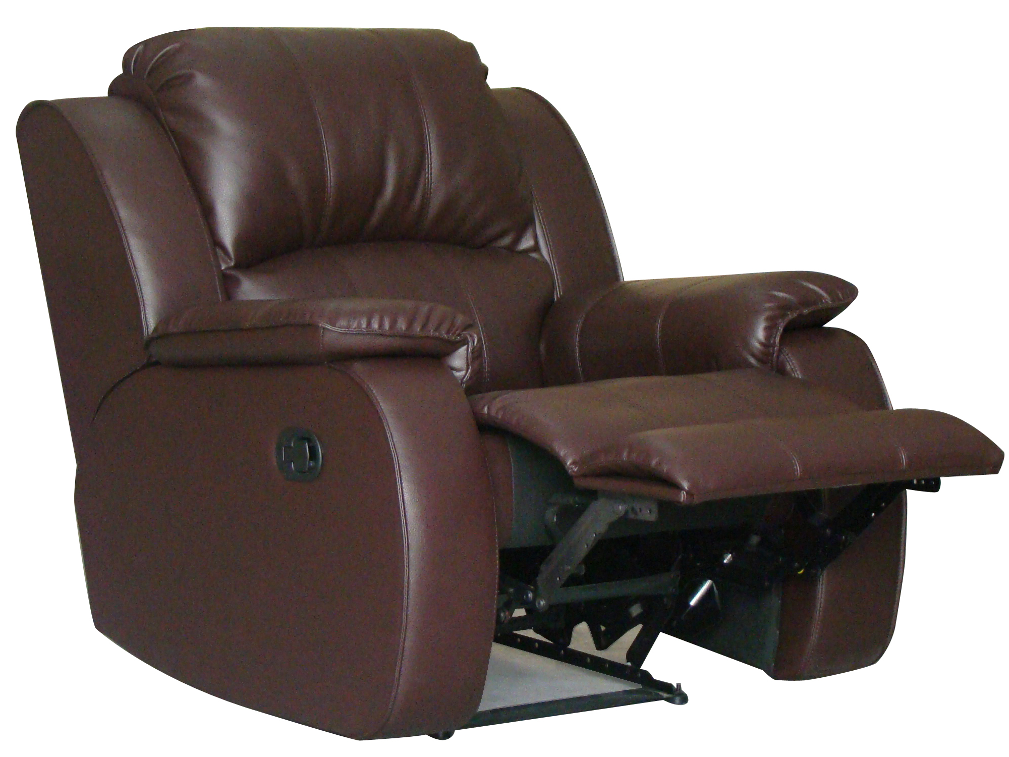 Brown Milano Leather Chair Reclined