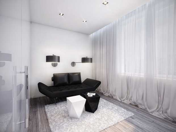 Fancy Peaceful Black And White Room