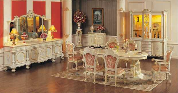 French Antique Dining Room Furniture