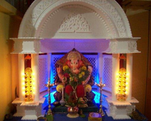 Ganesh Chaturthi Thermocol Decoration Ideas