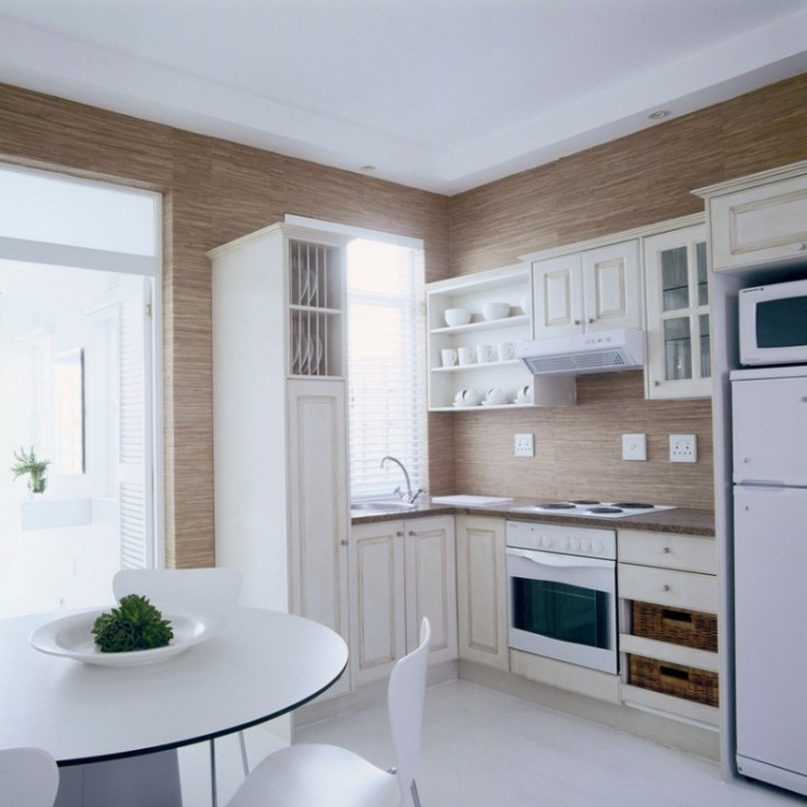 Small apartment kitchen design ideas kitchen wallpaper for Small apartment kitchen