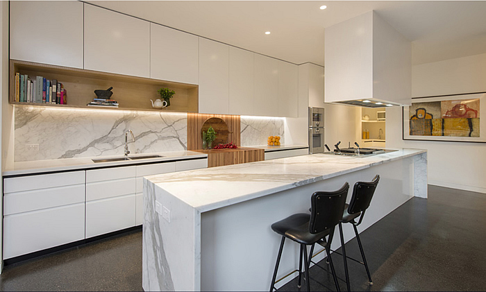 My Decorative 187 Kitchen Marble Benchtop White Cupboards