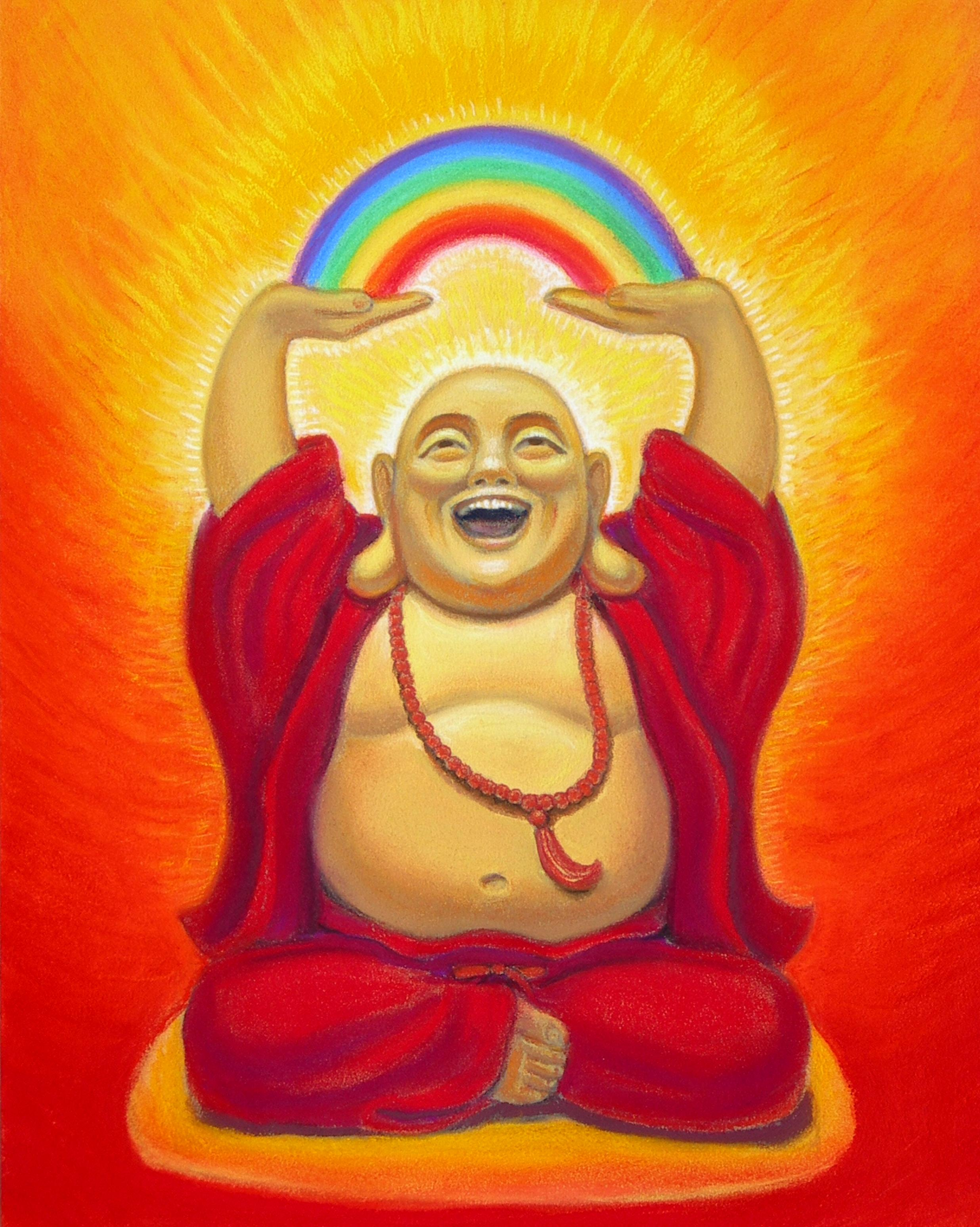 Laughing Rainbow Buddha