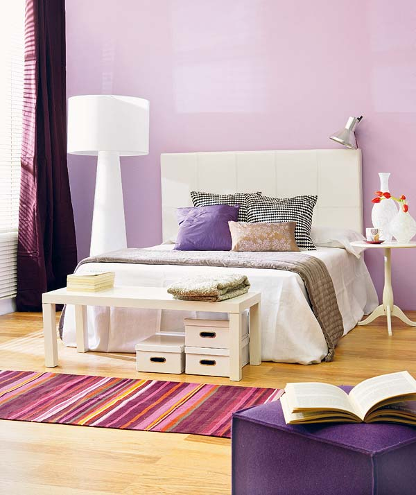 Lilac Bedroom Design